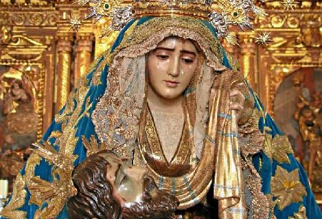 Los ayamontinos se preparan para la celebración de la Novena en honor a la Virgen de las Angustias