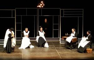 Un momento de la representación de 'La casa de Bernarda Alba'.