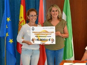 La afortunada beneficiaria Pepi Rodríguez Viera.