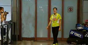 Carolina Marín, en el momento de llegar al aeropuerto de Madrid. / Foto: AsTV.