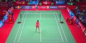 La onubense desplegó su mejor juego en el torneo ante Wang. / Foto: Captura TV.