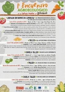 Cartel del I Encuentro Agroecológico en la Cuencia Minera.