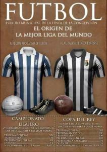 Cartel de Primera División para anunciar los dos partidos Balona-Recre.