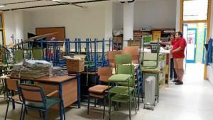 Visita a uno de los centros educativos de Isla Cristina.