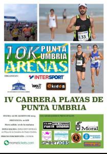 Cartel anunciador de la prueba atlética que se celebra el domingo en Punta Umbría.