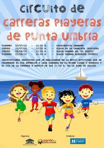 Cartel anunciador de la prueba atlética de este viernes en Punta Umbría.