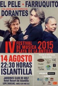El Pele, Farruquito y Dorantes actúan en el Festival de Música Playa de La Antilla.