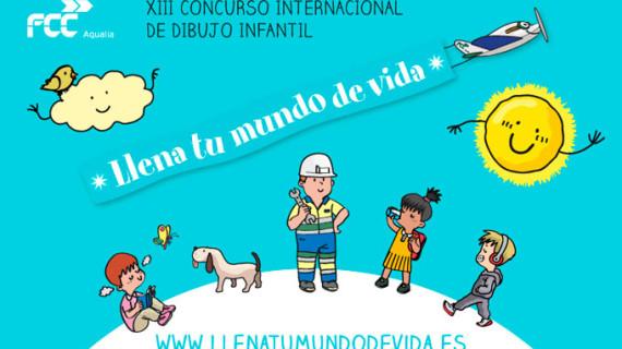 Ocho niños de varios municipios de Huelva, finalistas del Concurso internacional de dibujo infantil de Aqualia