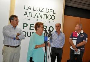 Momento de la inauguración de la exposición a inicios de agosto.