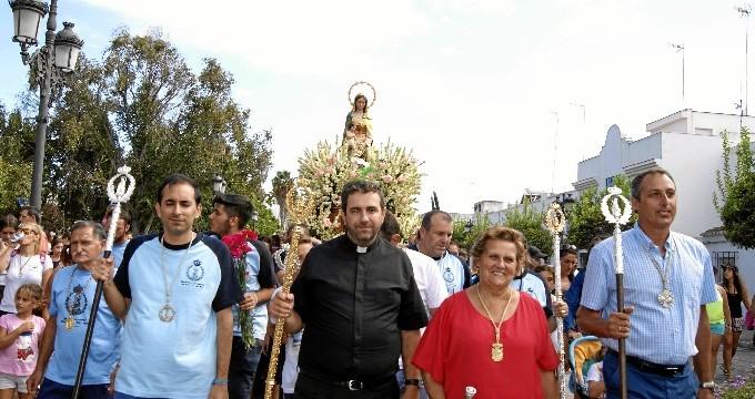 Isla Cristina concluye las fiestas de la Punta del Caimán con la procesión de la Virgen del Mar