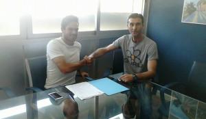 Mica Pinto, a la izquierda, junto a Manolo Toledano, secretario técnico del Recre. / Foto: @recreoficial.