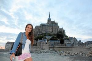 Elena Cuesto, de visita al Mount Saint Michelle en Francia.