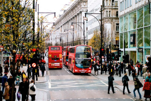 Imagen de la zona de Oxford Street.