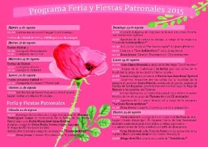 Programa de las Fiestas Patronales de San Bartolomé.