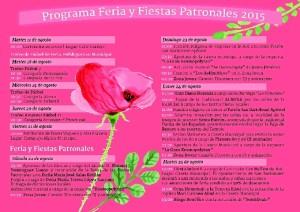 Programación de las Fiestas de San Bartolomé.