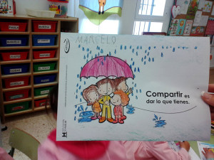 Los niños elaboraron diferente material.