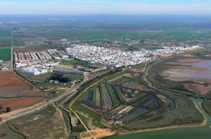 Vista aérea de San Juan del Puerto. / Foto: juntadeandalcia.es