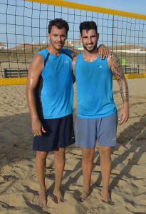 Los ganadores del torneo, Javier Cruzado y Óscar Cascajo.
