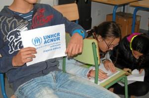 Acnur Andalucía ha desarrollado en los centros educativos el proyecto, 'La población refugiada y los ODM, un doble desafío'.