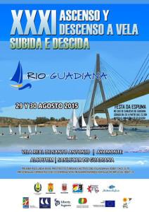 Cartel de la prueba náutica sobre el Guadiana.