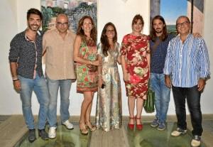 Foto de familia de los pintores.