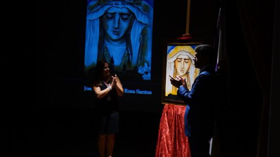 José Antonio de la Rosa presenta el cartel del Día de la Virgen 2015 de Ayamonte