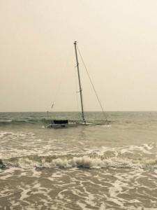 Imagen del barco en el agua. / Foto: L. C.