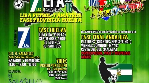 La primera liga andaluza de fútbol-7 aficionado llega a Huelva