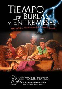 Cartel de la obra 'Tiempo de Burlas y Entremeses' de la compañía Viento Sur Teatro. /Foto: JuanJoP.