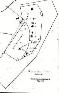Mapa sobre la ubicación del edificio. / Foto cedida por Pablo Fernández.