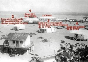 Imagen que muestra dónde se encontraban las casas de verano de los ingleses, ya desaparecidas a excepción de la Casa del Guarda. / Foto cedida por Pablo Fernández.