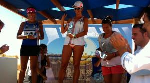 Elena Mojarro finalizó segunda en la categoría Veterana A en la Carrera Playera de Ayamonte.