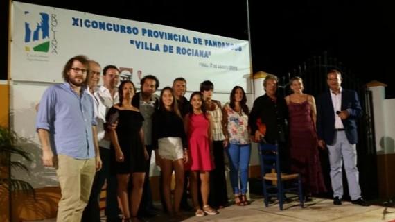 El cartayero Moisés Martínez se hace con el primer premio de Concurso de Fandangos 'Villa de Rociana'