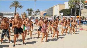 Imagen de un flashmob en Alicante. / Foto: youtube.