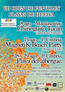 Cartel del torneo de futvoley que se disputa en Punta Umbría.
