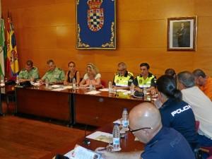Imagen de la Junta Local de Seguridad celebrada en Moguer.