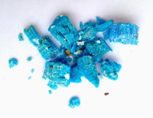 Sulfato de cobre, también conocido como piedra azul.