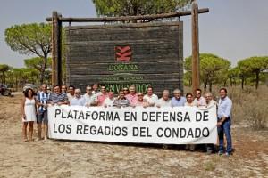 Apoyan las reivindicaciones de la Plataforma de Regadío del Condado de Huelva.