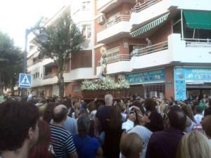 Una imagen de la procesión de este sábado.