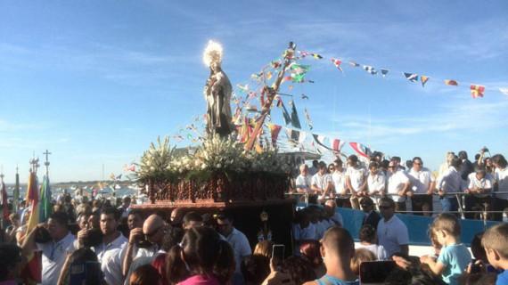 La Virgen del Carmen se reencuentra con los puntaumbrieños como cada 15 de agosto