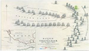 Mapa de la participación de El Rayo en la batalla. / Foto: IAPH.