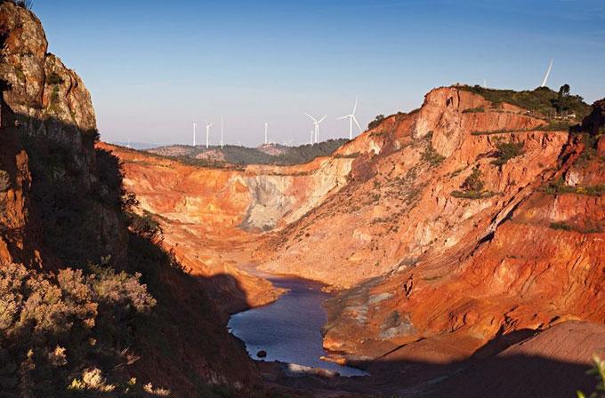 Imagen de las minas de Tharsis.
