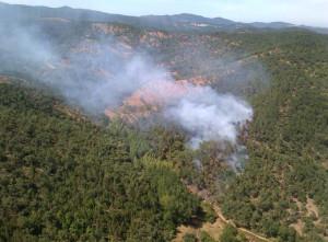 Incendio declarado en Valdelarco.