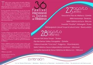 Programa del Festival de Villablanca 2015.