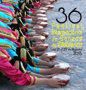 Cartel anunciador del Festival de Villablanca de este año 2015.