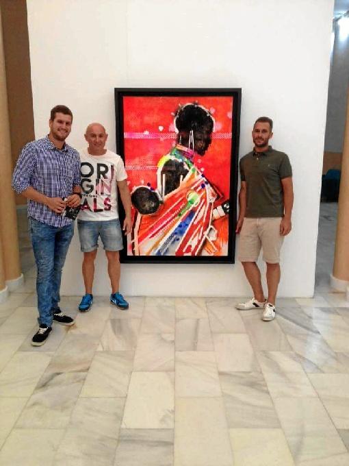 Visitas a la exposición del artista moguereño.