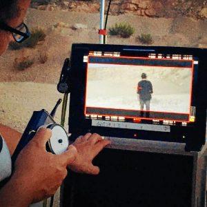 Grabando el video.