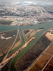 Imagen aérea de la zona donde se localiza el yacimiento.