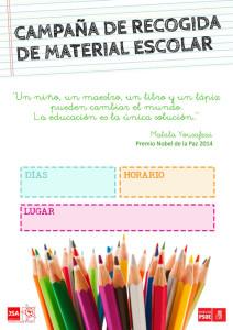 Campaña de recogida de material escolar.