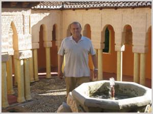 Juan Bermúdez en su finca de 'Villasudores', ubicaba cerca del municipio de Gibraleón.